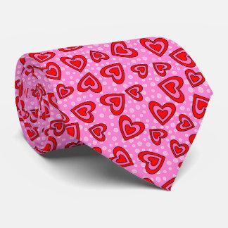 Coeur rouge et rose de Valentine Cravate