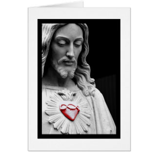 Coeur sacré carte de vœux