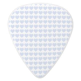 Coeurs bleus d'Alice dans un jardin anglais de Médiator Delrin Blanc