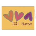 Coeurs de l'infirmière 3 d'ICU Cartes De Vœux
