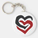 Coeurs liés porte-clef