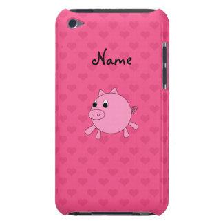 Coeurs nommés personnalisés de rose de porc coques iPod touch
