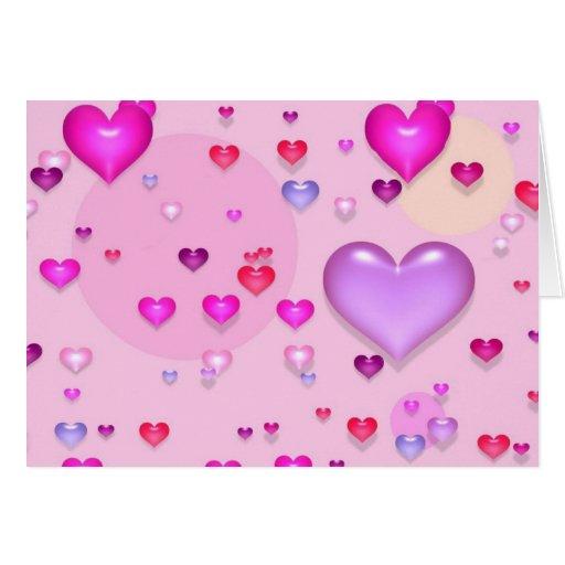 Coeurs roses pour la saint valentin carte de v ux zazzle - Carte pour la saint valentin a fabriquer ...