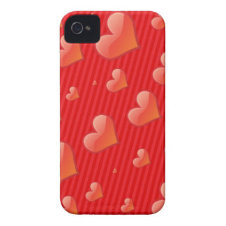 Coeurs rouges coques Case-Mate iPhone 4