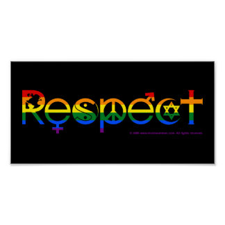 Coexist with Respect LGBT Gay Pride Poster