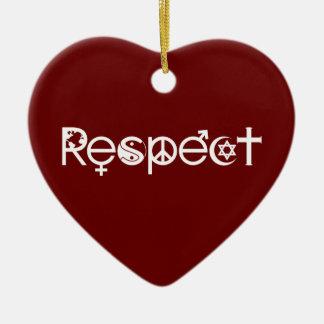 Coexist with Respect - Peace Kindness & Tolerance Ceramic Ornament