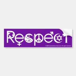 Coexist With Respect Purple Bumper Sticker
