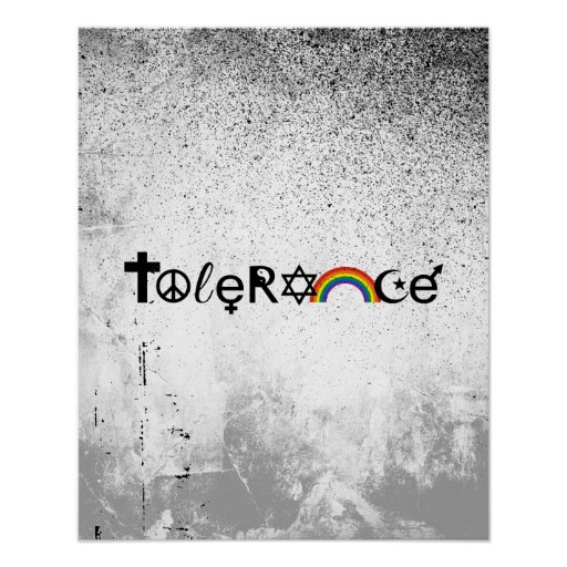 COEXIST WITH TOLERANCE -.png Posters