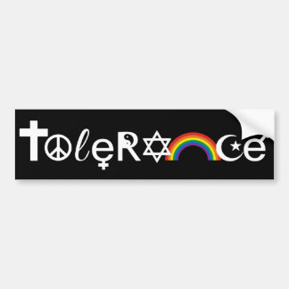 COEXIST WITH TOLERANCE WHITE -.png Bumper Sticker