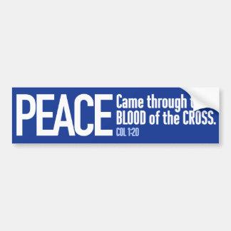 Coexistez : avec la paix par le sang de la croix autocollant de voiture