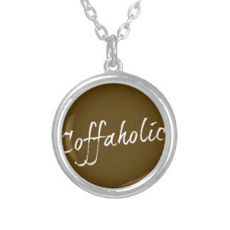Coffaholic Silver Plated Necklace