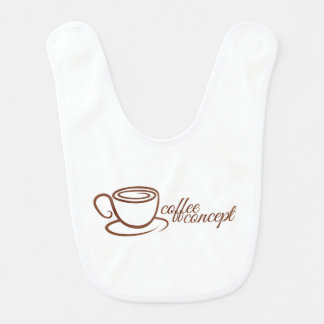 Coffe Cup Cafe Concept Baby Bibs