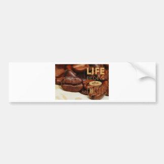 Coffe Life Bumper Sticker