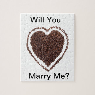 Coffe Lover Heart Gift Present Marriage Unique Jigsaw Puzzle