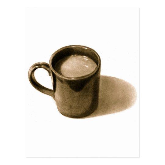 COFFE MUG: PENCIL REALISM: SEPIA POSTCARD