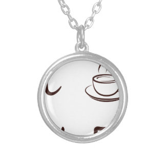 coffee10 silver plated necklace