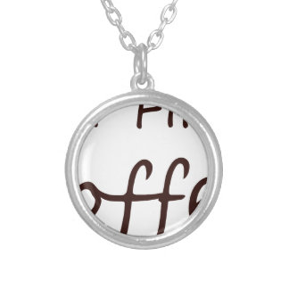 coffee12 silver plated necklace