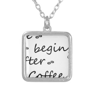 coffee18 silver plated necklace