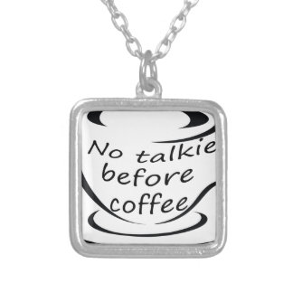 coffee22 silver plated necklace