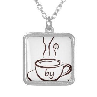 coffee2 silver plated necklace