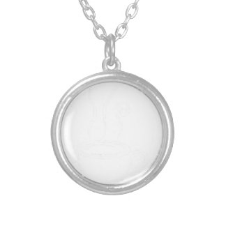 coffee9 silver plated necklace