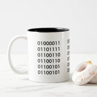 Coffee 101 Two-Tone coffee mug