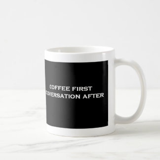 coffee 1st conversation after coffee mug