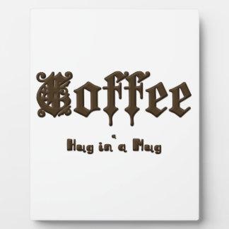 Coffee - a Hug in a Mug    Gothic Plaque