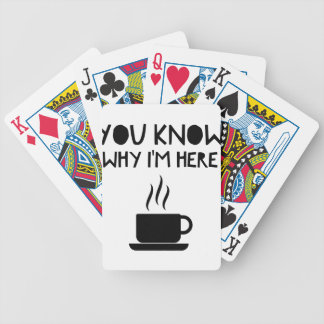 Coffee AA Anonymous Drunk Fellowship Bicycle Playing Cards