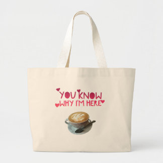 Coffee AA Anonymous Drunk Fellowship Large Tote Bag