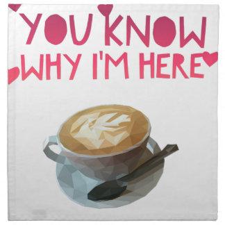 Coffee AA Anonymous Drunk Fellowship Napkin