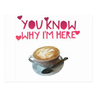 Coffee AA Anonymous Drunk Fellowship Postcard