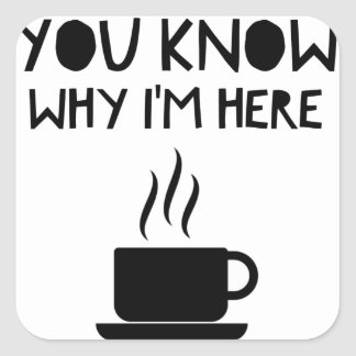 Coffee AA Anonymous Drunk Fellowship Square Sticker