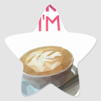 Coffee AA Anonymous Drunk Fellowship Star Sticker