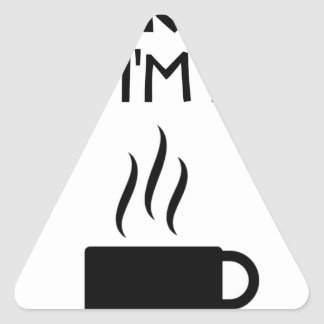 Coffee AA Anonymous Drunk Fellowship Triangle Sticker