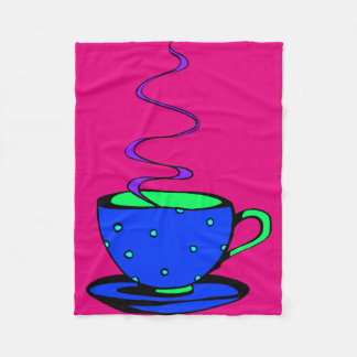 Coffee Abstract Fleece Blanket