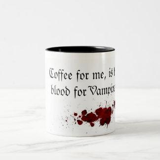 Coffee ace Blood Two-Tone Coffee Mug