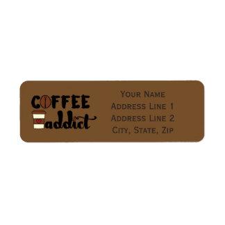 Coffee Addict II - Personalize Return Address Label