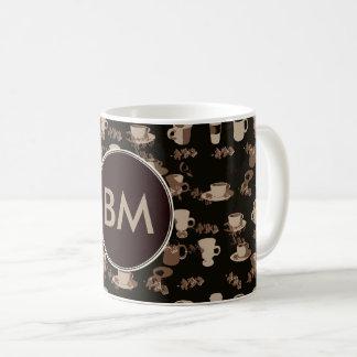 Coffee Addict Monogram Coffee Cup