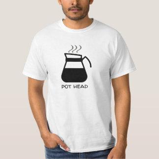 "Coffee Addict ""Pot Head"" Funny T-Shirt"