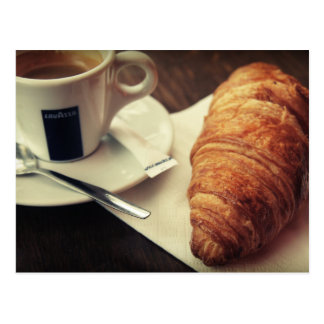 Coffee and a croissant, please postcard