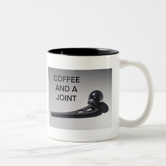 COFFEE AND A JOINT Two-Tone COFFEE MUG