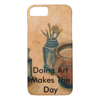 Coffee and Art Painting Brushes Artists Gifts Case-Mate iPhone Case
