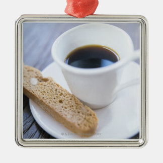 Coffee and Biscotti Metal Ornament