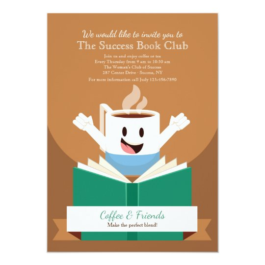 Coffee and Book Invitation