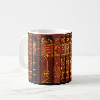 Coffee and Books Bookworm Vintage Mug
