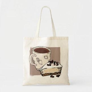 Coffee and Cake Budget Tote Bag