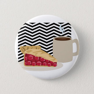 Coffee And Cherry Pie 2 Inch Round Button