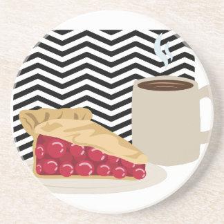 Coffee And Cherry Pie Coaster