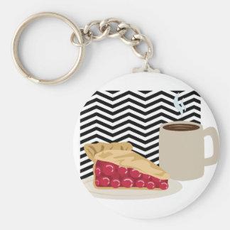Coffee And Cherry Pie Keychain